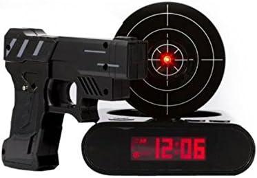le cible et Pistolet inclus Tera Pistolet Blanc matin r/éveil tir Clock Alarme avec le jeu de tir /« BOOM /»