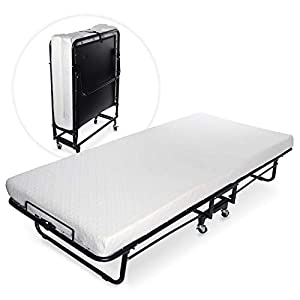 Milliard Premium Folding Bed with Luxurious Memory Foam Mattress – Perfect Guest Bed Featuring a Super Strong Sturdy Frame – Cot Size