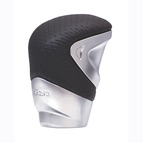 Razo RA131A 'GT Advance 2' Silver/Black 340 Grams Perforated Leather Short Shift (2' Gear Shift Knob)
