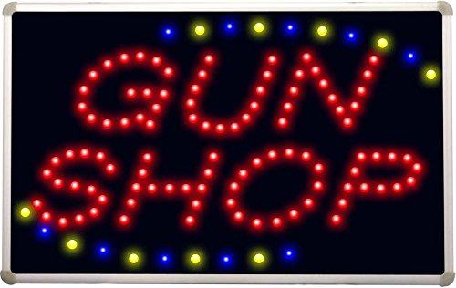led057 Gun Shop LED Neon Sign