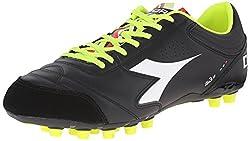 Diadora Men's Italica 3 LT MD 25 Soccer Cleat, White/Black, 12.5 M US