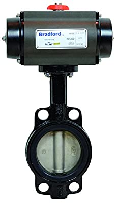 "Dixon B5121E200WW-BBC Wafer Butterfly Valve, Cast Iron Body, EPDM Seat, R and P, AL, Spring Return, NC, 2"" from Dixon"