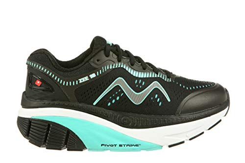 MBT USA Inc Women's Zee 18 Black/Light Blue Cushioned Running Shoes 702014-1169Y Size 7.5