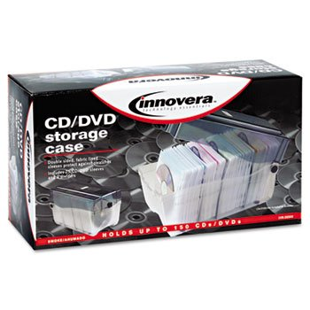 Innovera - CD/DVD Storage Case, Holds 150 Disks - IVR39502