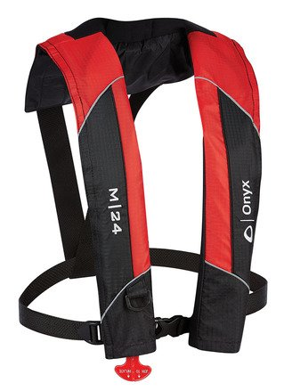 Onyx M-24 Manual Inflatable Vest, Red - Inflatable Pfd Vest