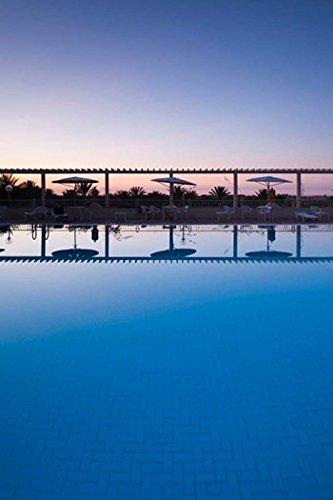 Tunisia, Jerid Area, Tozeur, Hotel El Mouradi Pool Poster Print by Walter Bibikow (11 x (Hotel El Mouradi Pool)