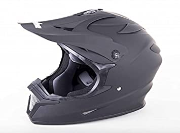 Cyclone ATV MX Motocross Dirt Bike Quad todoterreno casco – mate negro – XL