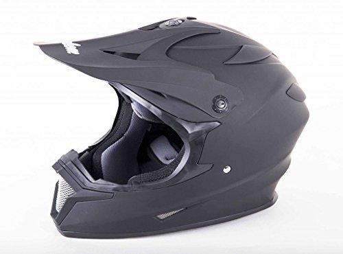 (Cyclone ATV MX Dirt Bike Off-Road Helmet DOT/ECE Approved -Matte Black- Youth LG)