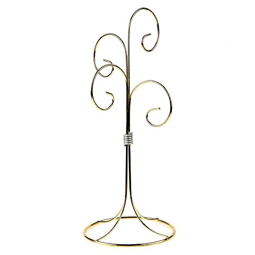 Home-X Decorative Ornament Display Stand. Four Arm Gold (Arm Ornament Stand)