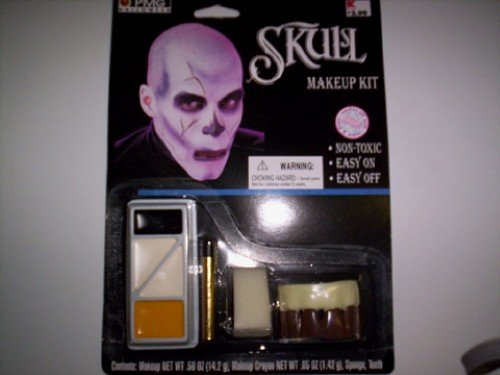 Skull Face Paint Body Paint Kit Halloween Kit NIP Lot -