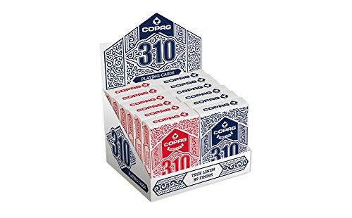 12 DECKS COPAG 310 POKER CARDS STANDARD INDEX 6 BLUE 6 RED NEW