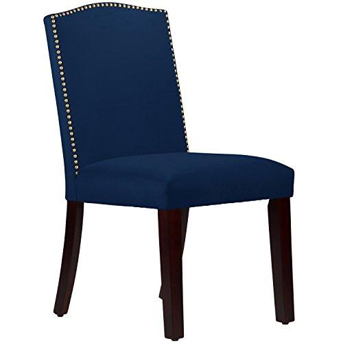 Skyline Fabric Chair (Calistoga Velvet Navy Fabric Arched Dining Chair)