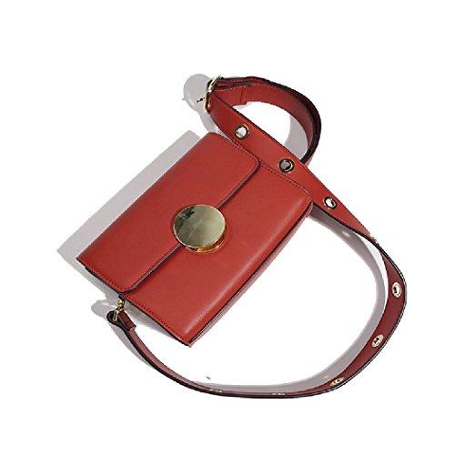Grande Sac capacité à Boucle Petit bandoulière main Orange Messenger à Portable sac métallique Sac X1wqq
