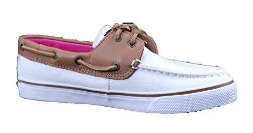Sperry Top Sider Bahama Women Moc Toe Canvas Ivory Boat Shoe 6oDlCE3