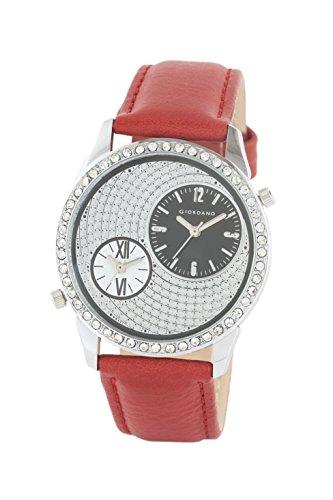 Giordano Analog Silver Dial Women's Watch - 60070-01-11