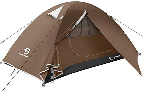 Bessport Backpacking Tent for 2 Person, Lightweight Camping Tent with Two Doors Easy Setup Waterproof Tent for Outdoor, Hiking Mountaineering Travel