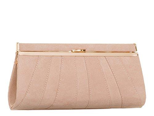 Party Purse Structured Handbag Faux Bag Ladies Bag Ivory Women's KH2045 Cocktail Clutch Suede faw18