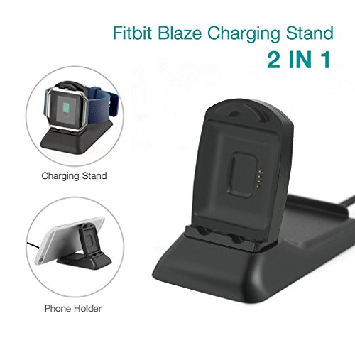 Tralntion Smartwatch Charger Dock Station for Fitbit Blaze Smart Watch Mobile Phone