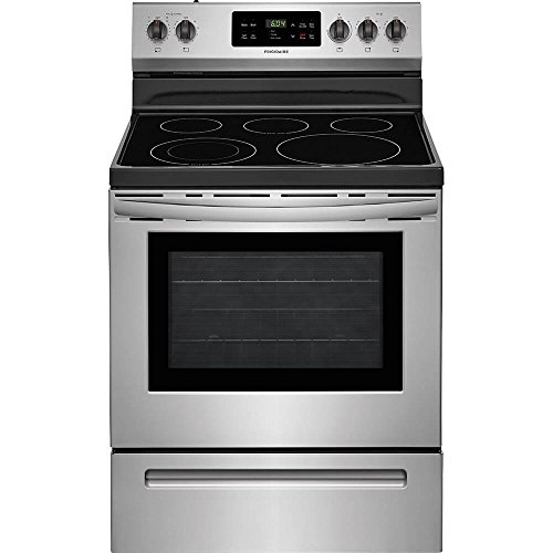 Frigidaire FFEF3054TS 30 Inch Electric Freestanding Range with 5 Elements, Smoothtop Cooktop, 5.3 cu. ft. Primary Oven Capacity, in Stainless Steel ()