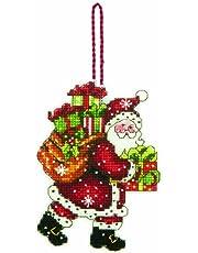 Dimensions Getelde kruisstaafset, Santa met tas