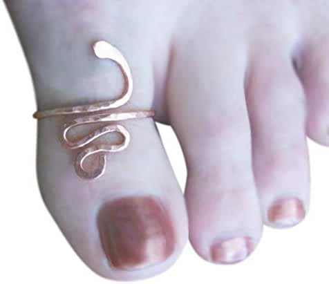 14k Gold Filled Swirl Snake Adjustable Big Toe Ring