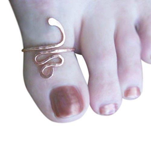 14k Gold Filled Swirl Snake Adjustable Big Toe Ring