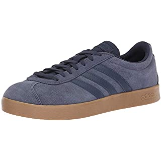 adidas Performance Men's VL Court 2.0 Sneaker, Trace Blue/Trace Blue/Gum, 9 M US