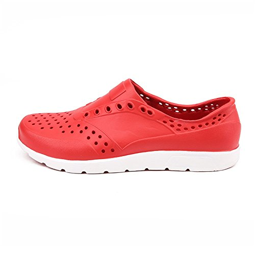 Nero spiaggia da 44 da da uomo Zoccoli Color Scarpe uomo scarpe da sandalo piccolo su con 2018 EU Rosso cava Dimensione xanAO