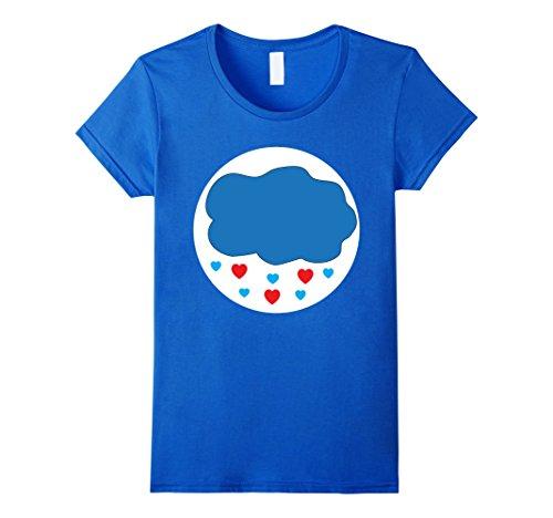 Halloween Care Bear (Womens Care Cloud Heart Bears Halloween Group Costume TShirts Medium Royal Blue)