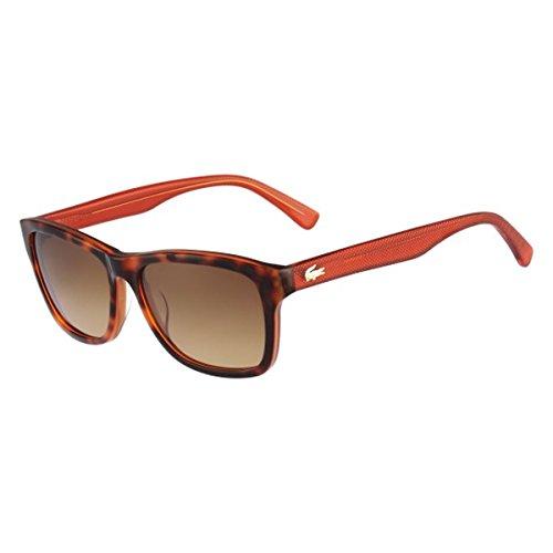 Lacoste Unisex-Adult L683s L683S-215 Square Sunglasses, ORANGE HAVANA, 55 - Orange Sunglasses Havana