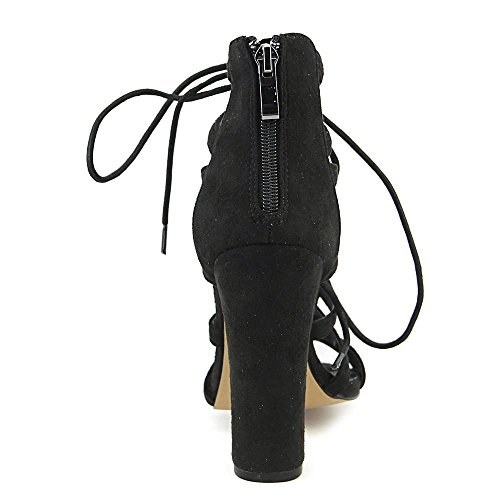 Chelsea & Zoe Donna Elyse Open Toe Casual Sandali Con Il Cinturino Nero
