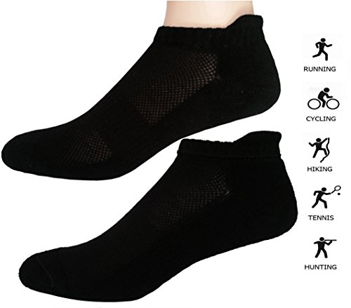Women's Athletic Ankle Socks with Cushion 6 Pack