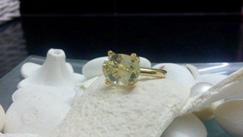 (Lemon quartz ring,light yellow ring,stack statement ring,gold ring,gemstone ring,small ring,vintage ring,cocktail ring)