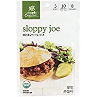 Simply Organic Sloppy Joe, Certified Organic, Gluten-Free | 1.41 oz | Pack of 12