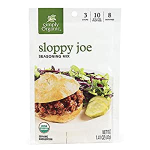 Simply Organic Sloppy Joe, Certified Organic, Gluten-Free | 1.41 oz | Pack of 12