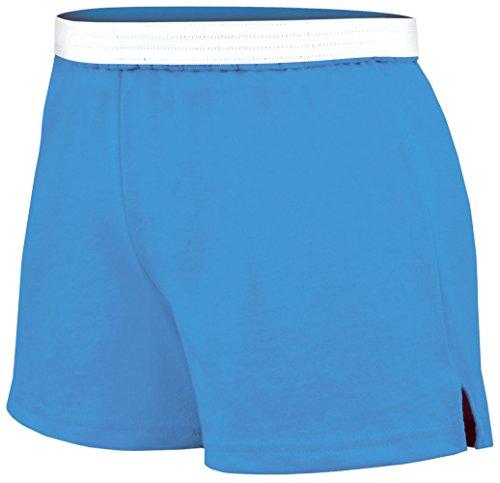 (Soffe Junior's Authentic Short, Columbia Blue, Large)