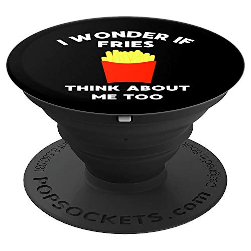 Foodie Gift Funny French Fry Lover - PopSockets Grip and Stand for Phones and Tablets (French Photo Fries)