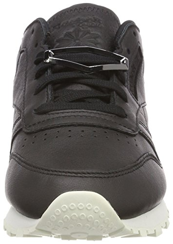 Schwarz Classic Hardware Reebok Blackchalk Damen Gymnastikschuhe Blackchalk Leather UXBzWq
