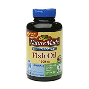 nature made fish oil 1200mg liquid softgels