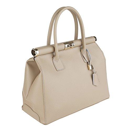 Chicca Made in con Donna Italy da Cm a Borse in Nocciola Tracolla Vera Borsa Pelle Handbag Mano 35x28x16 rOcwqgR7rA