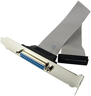 Low profile Bracket for Parallel LPT Printer db25 Port Cable host case bracket
