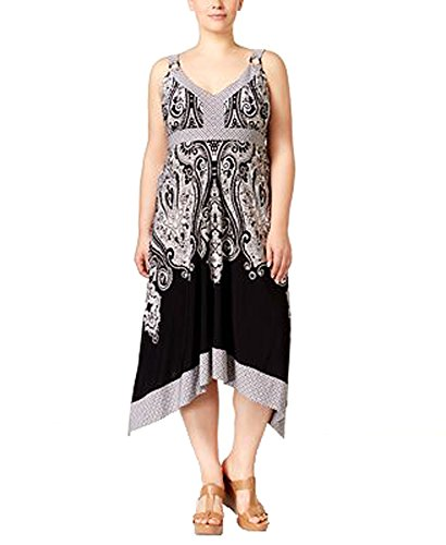 International Concepts Plus Size Printed Midi Dress (2x, Place Castle - Pa Clothing In Outlets