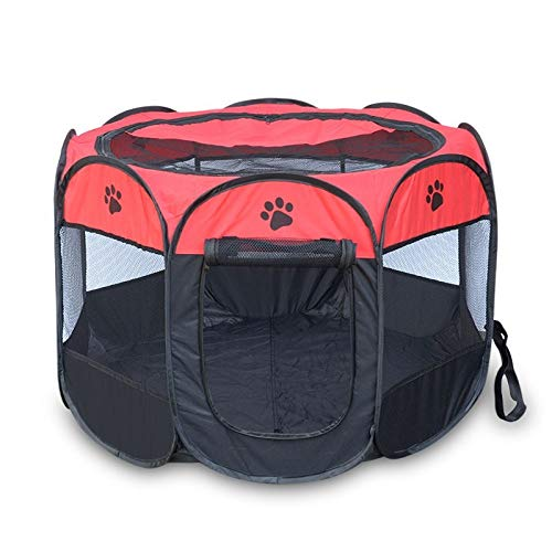 Black 91X91X58CMCookisn 4 colors Portable Folding Pet Dog Cat Cage Playpen House Tent Kennel Easy Operation Comfortable Fence Outdoor Supplies HB Red 73X73X43CM