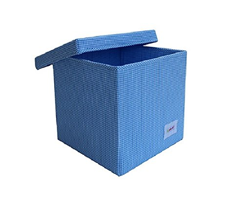 Hellblau Karo Minene 1552 Aufbewahrung W/ürfel Box