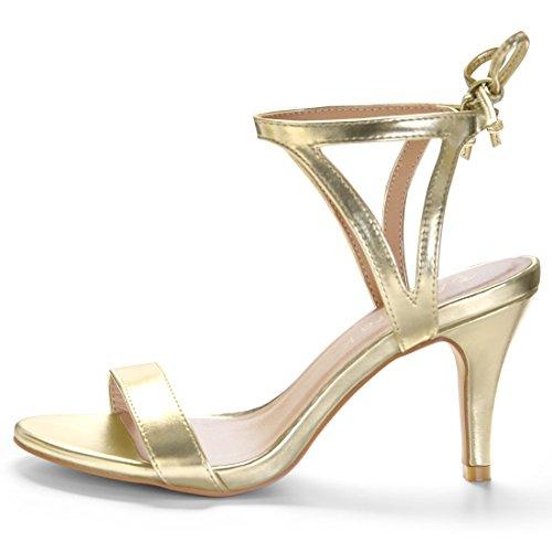 Sandales Allegra Dame Gold Attache Toe Stiletto Cheville Open Extensible K Tone p6pwqXn5T