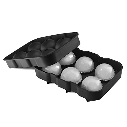 (Klee Utensils Ice Ball Mold - 6 Spheres - 1 pack - Durable Silicone - Food Grade & BPA Free, Easy to Use - Chill Your Whisky, Scotch, Gin, Spirits or Any Cocktail Drink.)