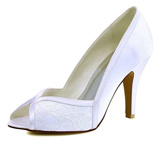 Minitoo MinitooUK-MZ8231 - Sandalias de Vestir Para Mujer Ivory-7cm Heel