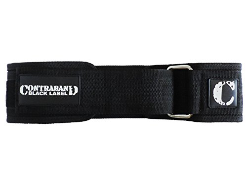 Contraband Black Label 4010 4inch Nylon Weight Lifting Belt w/ Velcro