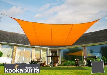 クッカバラ日除けシェードセイル オレンジ色 5.4x5.4m正方形 紫外線98%カット 防水タイプ OL0114LS B004XGDTVY 18550   四角: 5.4 x 5.4m