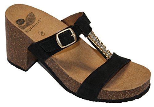 Fashion Sandals NEROP Black Scholl Women's DR n0BYqwPx